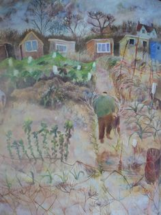 The Adorable Plot by Tessa Newcomb – Paint Drops Keep Falling Garden Painting, Love Painting, Garden Art, Fields In Arts, Paint Drop, City Sky, Quirky Art, Van Gogh Paintings, Art Uk