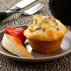 """""""These are great, especially if you need to get out the door in a hurry in the morning. I tripled the recipe and froze the extra cups. They tasted great after warming in the microwave..."""" reviewer comment, about this Breakfast Biscuit Cups Recipe.    Find more Muffin Cup Recipes > http://www.tasteofhome.com/Recipes/Cooking-Style/Muffin-Cup-Recipes?keycode=ZFB0913SLIDE"""