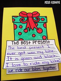The Best Present writing craft that is a no prep and easy way to practice opinion writing