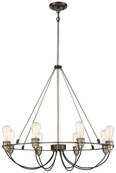 Minka - 4458-784 - Eight Light Chandelier - Harvard Court Bronze w/Pewter