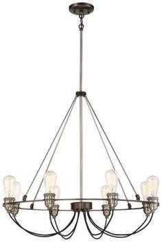 Minka - 4458-784 - Eight Light Chandelier - Harvard Court Bronze w/Pewter  sc 1 st  Pinterest & One Light Pendant $939. ID# 575174 Lighting EFX | Lighting ... azcodes.com