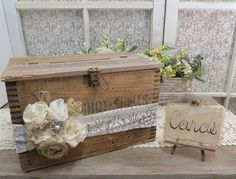 Vintage Wood Shot Shell Case Wedding Card Box by Thequirkycorncrib, $110.00