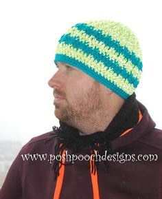 Reflective Front Post Beanie Crochet Pattern By Sara Sach of Posh Pooch Designs We have just re-tested, re-edited, and updated This. Free Crochet, Crochet Hats, Beanie Pattern, Dog Design, Crafts To Sell, Ravelry, Free Pattern, Winter Hats, Crochet Patterns