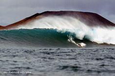 Big wave surfing. Gary Elkerton. Lanzarote. Canary Islands. Spain.