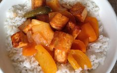 Dinner Ideas: Sweet and Sour Tofu with a Kick!