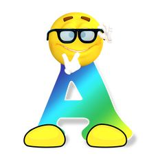 Abc, Orden Alfabético, Smiley, Letras, Lectura