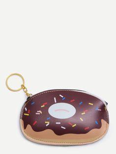 Monedero con estampado de donuts-Sheinside