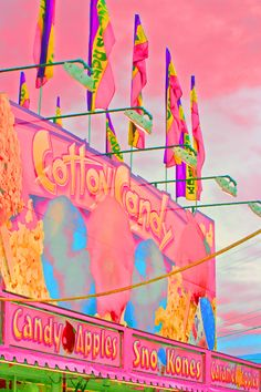 carnivals and cotton candy