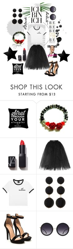 """""""Ebony & Ivory Swag"""" by shop77spark ❤ liked on Polyvore featuring Ultimate, NARS Cosmetics, Ballet Beautiful, Dunn, Cara and Alice + Olivia"""