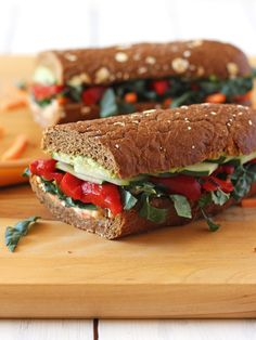 10. Roasted Red Pepper, Carrot and Hummus Sandwich #high #fiber #recipes http://greatist.com/eat/high-fiber-lunches