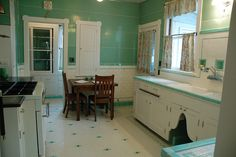 A 1922 Portland Arts & Crafts home hides a special surprise--a breath-taking Depression-era kitchen in near-mint condition which was given a complete makeover in the 1930s.