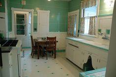 Breath-taking Depression-era kitchen in near-mint condition.