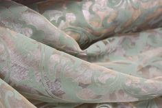 Printed Sheer Flock Velvet on iridescent organza by fabricbuzz