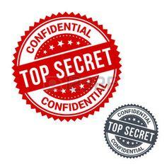 postage stamp: Vector stamp top secret. Use for label, sign or sticker Illustration