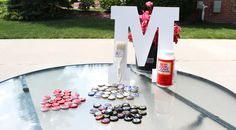 Initial Art, Custom Art, Beer Bottle Cap Crafts, Inexpensive, Touch of Tay