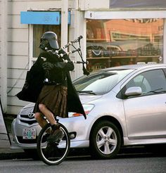 Darth Vader...in a kilt...on a unicycle...playing the bagpipes. Whatever arguement you were thinking of making is completely invalid.