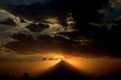 Cimiento al sol, Puebla México , volcán Popocatépetl