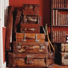 stack-of-antique-leather-suitcases  www.sportinglifeblog.com