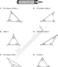 TRIANGULOS EJERCICIOS DE GEOMETRIA DE SEXTO DE PRIMARIA Teaching Geometry, Teaching Math, Angles Worksheet, Kids Math Worksheets, Math For Kids, Education, Activities For Students, Math Activities, Trigonometry