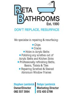 Contact us to have your bath polished or for a free quote.  www.betabath.co.za  info@betabaths.co.za Toilet Tiles, Elevator Door, Kitchen Cupboard Doors, Bathroom Color Schemes, Free Quotes, Save The Planet, Cape Town, Never Give Up, Basin