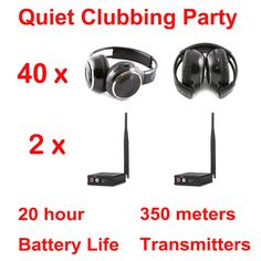 Like and Share if you want this  Silent Disco complete system black folding wireless headphones - Quiet Clubbing Party Bundle (40 Headphones + 2 Transmitters)     Tag a friend who would love this!     FREE Shipping Worldwide   http://olx.webdesgincompany.com/    Buy one here---> http://webdesgincompany.com/products/silent-disco-complete-system-black-folding-wireless-headphones-quiet-clubbing-party-bundle-40-headphones-2-transmitters/