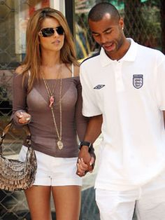 Beautiful singer and a pro soccer player = hot!  Cheryl and Ashley Cole!