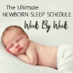 Have a newborn you want to sleep well from the beginning? Try this newborn sleep schedule to go from fussy baby to sweet snoozer.