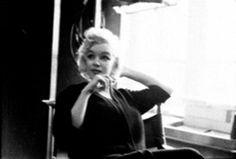 Marilyn at Milton Greene's studio in New York, 1955. Photo by Milton Greene.