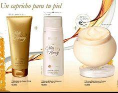 Dale a tu piel los beneficios de la leche y la miel, te lo agradecerá. Y tu bolsillo también  Exfoliante, gel y crema corporal por SÓLO 11,95