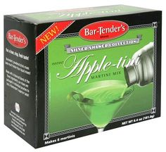 Bar-Tender's Silver Shaker Collection Instant Apple-tini Martini Cocktail Mix 6.4 oz. (2 Boxes)