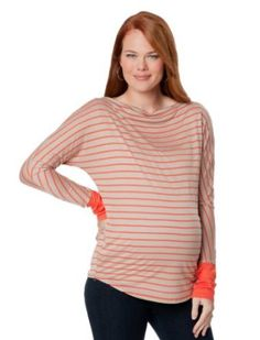 A Pea in the Pod Collection: Michael Stars Long Sleeve Boat Neck Colorblock Maternity Shirt Michael Stars. $49.99