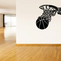 Wall Vinyl Sticker Decals Decor Basketball Ball by StickersForLife, $27.99 Sticker Art, Vinyl Wall Decals, Wall Stickers, Decorative Stickers, Softball Room, Mural Art, Wall Murals, Wall Colors, Basketball Tattoos