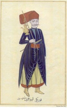 The Palace head coffee maker (Album, Topkapi Palace Museum Library, Ahmed III Collection, MS 3690). Source: Turkish Medical History through Miniature Pictures Exhibition, published by Nil Sari-Ülker Erke, Istanbul: ISHIM, 2002.