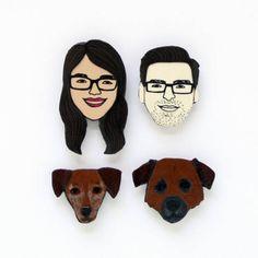 Tiny Face Magnets Custom Order