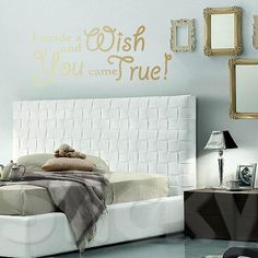 Wall Sticker A WISH by Sticky!!! Make A Wish, Wall Sticker, Stickers, House, Live, Quotes, Home Decor, Ideas, Quotations