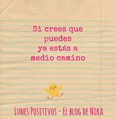 Lunes Positivos – Medio Camino #archivo http://blgs.co/Z8CllL