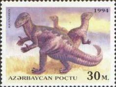 Sello: Iguanodon (Azerbaiyán) (Prehistoric Animals) Mi:AZ 157,Sn:AZ 450,Yt:AZ 160