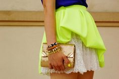 love the neon...and lace