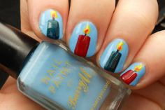 Advent Tutorial: Candle Nail Art