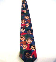 Save The Children Mens Necktie Tie Helping Children by parkledge, $20.00