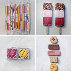 in love with: Joël Penkman Food Paintings (as shared on Decor 8)