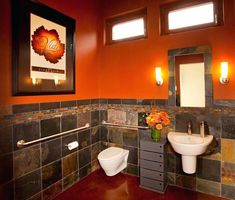 23 Best Orange Bathroom Decor Images