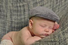 Baby newsboy hat gray newsboy hat cotton velour by DakkoBabySC, $36.00