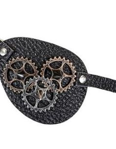 Leather Spiked Gears Eye Patch (Copper)