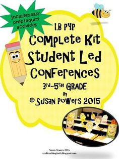 A Complete Student Led Conferences Kit with IB PYP Activities from Cool Teaching Tools on TeachersNotebook.com - (30 pages) - Anything to make our lives simpler, right? Well, this convenient IB PYP packet for Student Led Conferences in the upper elementary grades will hopefully do that for you.