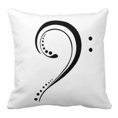 Bass clef pillow