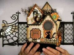 Halloween Mini Album - The Witches Inn made by Belinda Ackers, some of the most beautiful & fun mini albums I have ever seen. Totally inspirational.