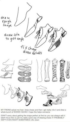 How to draw shoes - Drawing reference