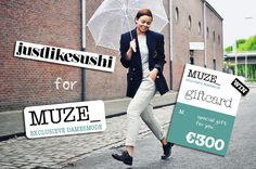 GIVEAWAY! Win a €300 Giftcard!  http://justlikesushi.creatorsofdesire.com