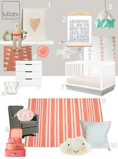 My Modern Nursery #77: Coral and Mint